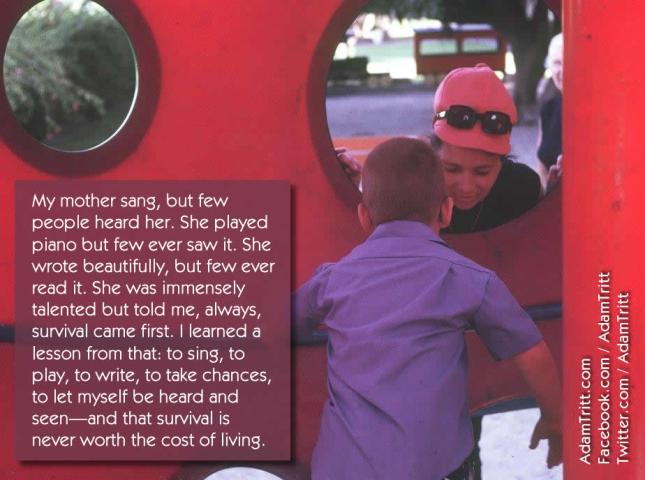 Sheilah and Adam, playground quote